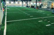 Indoor synthetic grass football field
