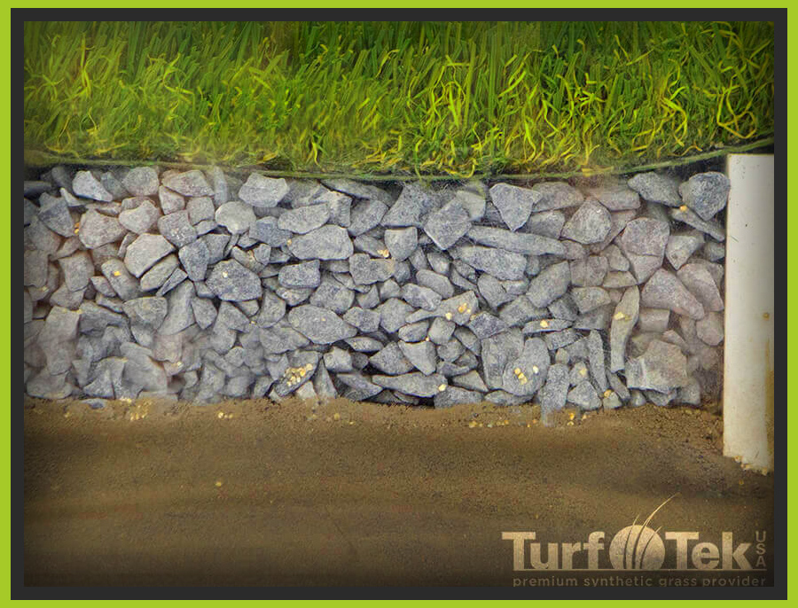 Turf installition cutout side