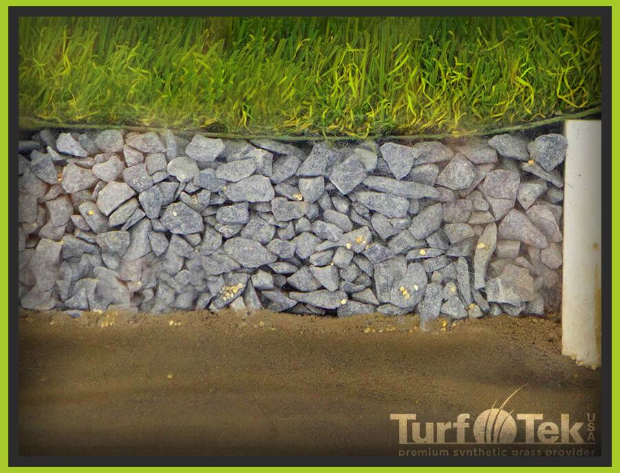 Turf installition cutout side