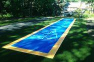 Turftek shuffle board synthetic grass court