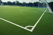 Maintenance free soccer artificial grass field