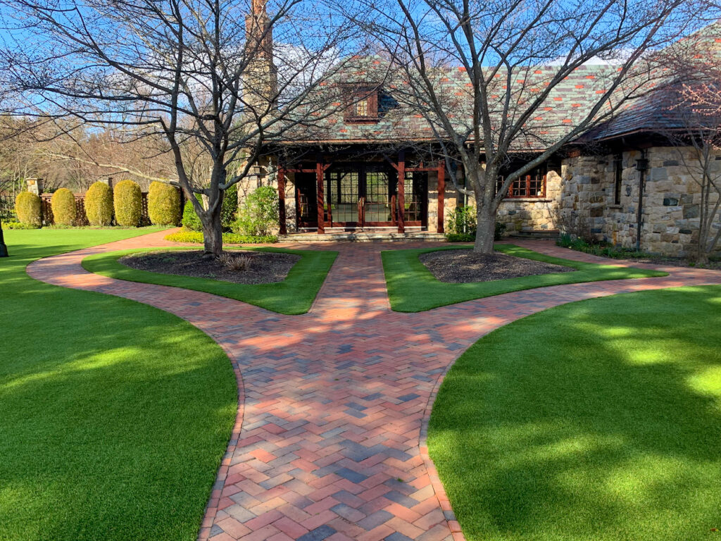 synthetic grass walkway